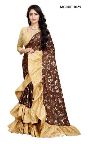 Ruffle Saree Collection 1025 Price - 999