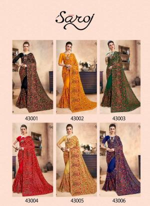 Saroj Saree Fashion World 43001-43006 Price - 15150