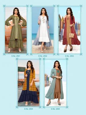 Meerali Silk Mills Chunari 2501-2505 Price - For Size M TO XXL- 4450 , For Size 3XL- 4575