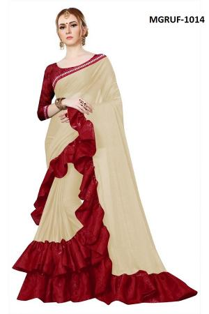 Ruffle Saree Collection 1014 Price - 999
