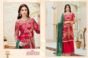 Shree Fabs Afrozeh Embroidered Collection 2121  Price - 1431