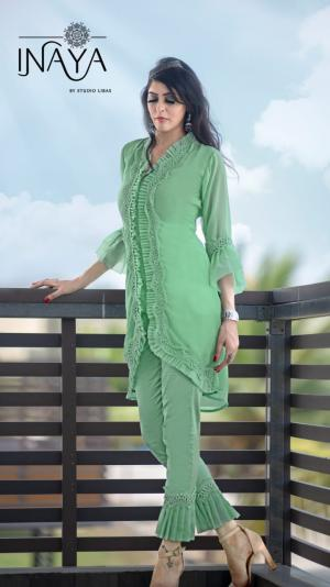 Inaya By Studio Libas Frilly Collection Green Price - 1399