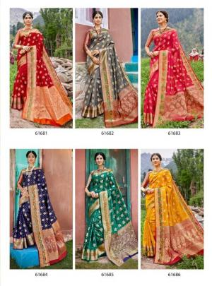 Lifestyle Saree Kashmiri Silk 61681-61686 Price - 7290