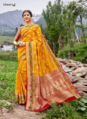 Lifestyle Saree Kashmiri Silk 61686 Price - 1215