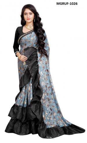 Ruffle Saree Collection 1026 Price - 999
