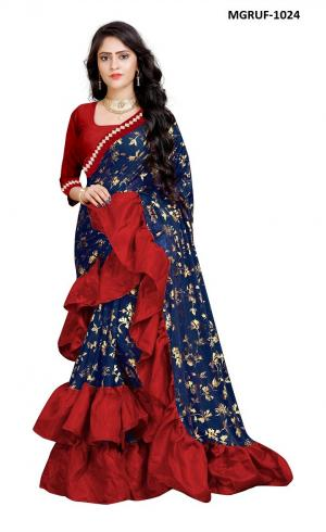 Ruffle Saree Collection 1024 Price - 999
