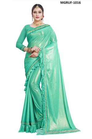 Ruffle Saree Collection 1016 Price - 999
