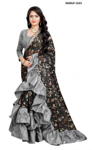 Ruffle Saree Collection 1023 Price - 999