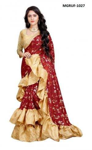 Ruffle Saree Collection 1027 Price - 999