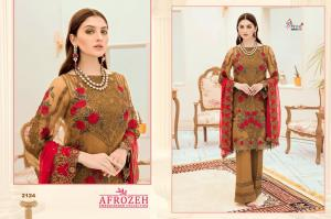 Shree Fabs Afrozeh Embroidered Collection 2124 Price - 1431