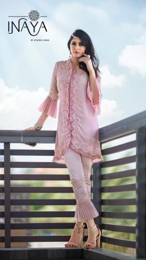 Inaya By Studio Libas Frilly Collection Pink Price - 1399