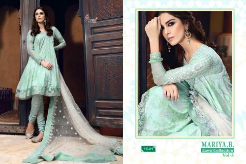 Shree Fabs Mariya B Lawn Collection Vol 3 1641-1645 Series