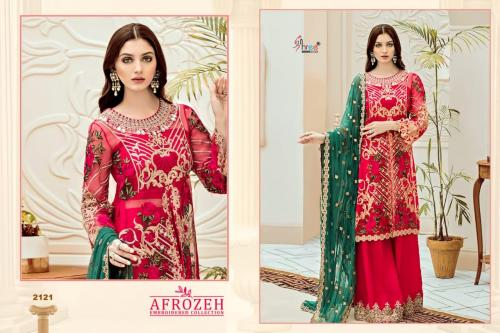 Shree Fabs Afrozeh Embroidered Collection 2121-2124 Series