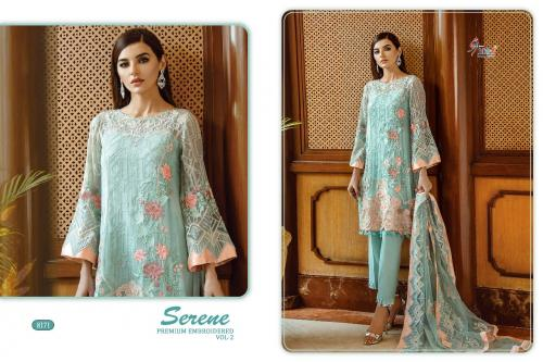 Shree Fabs Serene Premium Embroiderd Vol-2 8171-8173 Series